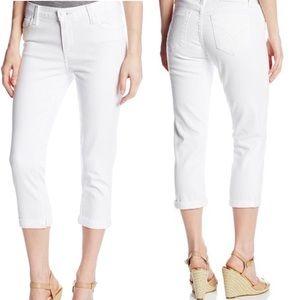 Calvin Klein | White Wash Cropped Boyfriend Jeans